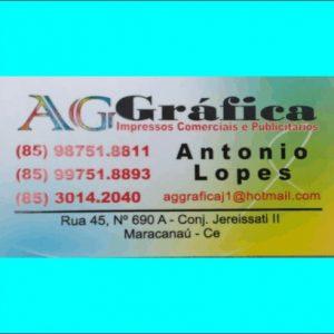 AG Gráfica – Impressão Comerciais e Publicitários