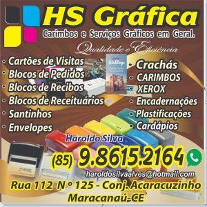 HS Gráfica – Carimbos e Serviços gráficos em geral – Qualidade e Eficiência